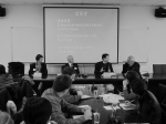 A panel and student exchange at the Graduate Institute of International Politics at National Chung Hsing University in Taichung, Taiwan.  In total, the group participated in three such exchanges with Taiwanese graduate students.  Professors Freeman, Brown, and Lampton as well as SAIS students listen in as Dr. Tsai responds to a question posed by students.  Photo by Jingbo Jing.