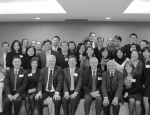 Members of the SAIS Taipei Alumni Club pose for a group photo after the end of an enjoyable night reconnecting with friends and fellow alumni.