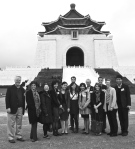 A final group shot in front of the Chiang Kai-shek Memorial.  Photo by Cristina Garafola.