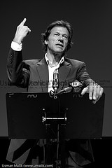The Pakistani politician Imran Khan (Photo by Usman Malik)